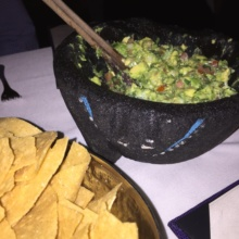Gluten-free guacamole and chips from Rosa Mexicano