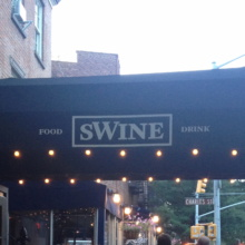 Swine in West Village NYC