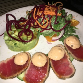 Gluten-free tuna salad from Temazcal Tequila Cantina