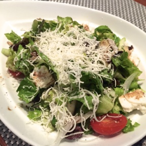 Gluten-free salad with cheese from Terra