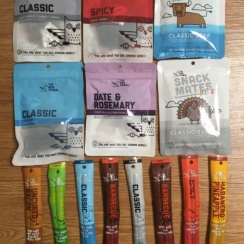 Gluten-free jerky and meat sticks from The New Primal