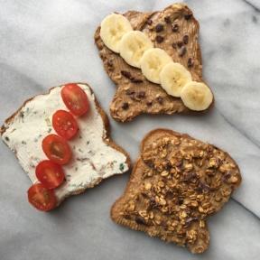 Gluten-free Toast with Cream Cheese & Peanut Butter