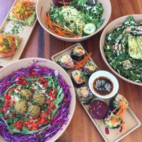 Gluten-free lunch spread from Wild Living Foods