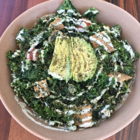Gluten-free avocado salad from Wild Living Foods