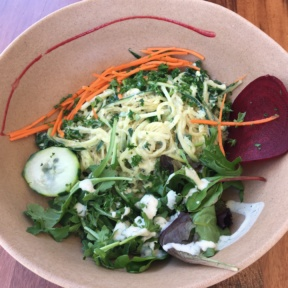 Gluten-free salad from Wild Living Foods