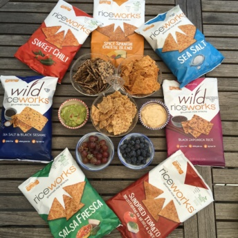 Chips and dip with Wild Riceworks chips