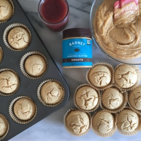 About to make gluten-free almond butter and jam cupcakes