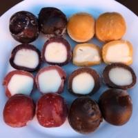 4 flavors of gluten-free non dairy frozen bites by perfectlyfree