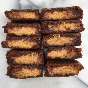10 Peanut Butter Cup Stuffed Brownies