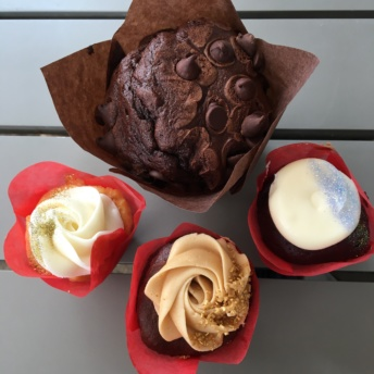 Four gluten-free cupcakes from Sugar and Scribe