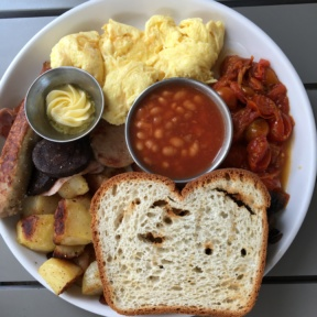 Gluten-free Irish breakfast plate from Sugar and Scribe