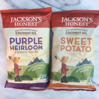 Purple heirloom and sweet potato chips by Jackson's Honest