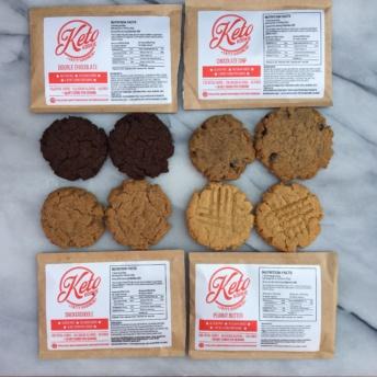 Four flavors of gluten-free cookies by Keto Kookie