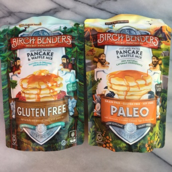 Gluten-free and paleo pancake and waffle mixes by Birch Benders