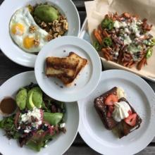 Gluten-free brunch spread from Company Cafe
