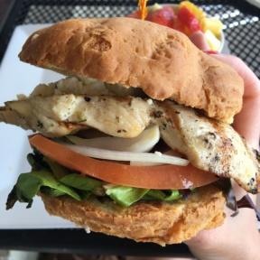 Gluten-free chicken sandwich from Kozy Kitchen