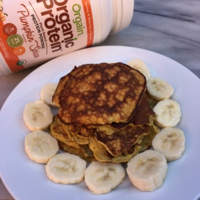 Pumpkin Spice Protein Pancakes using Orgain protein powder
