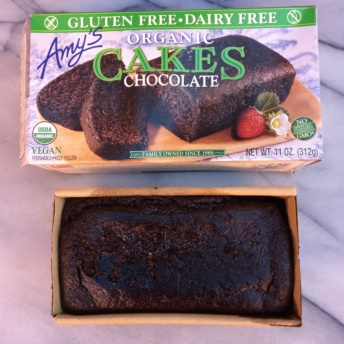 Gluten-free chocolate cake by Amy's Kitchen