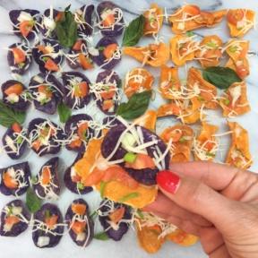 Bruschetta Bites on Chips by Jackson Honest