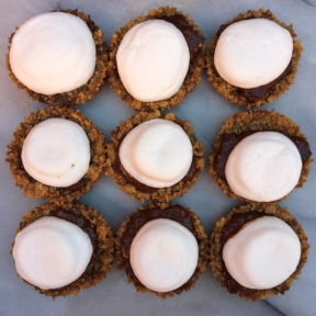 S'mores Cups with chocolate bark