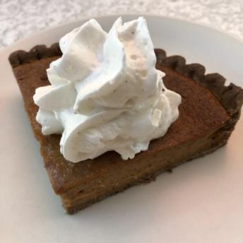 Squash pie from True Food Kitchen
