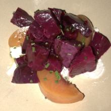 Beet & peach salad from Barcelona Restaurant & Wine Bar