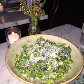 Gluten free kale salad from Dudley's