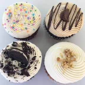 Four large cupcakes from Joy and Sweets