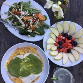 Gluten-free brunch spread at Madera Kitchen