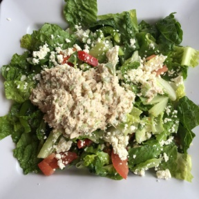 Gluten free tuna salad from The Sidewalk Cafe
