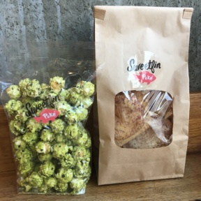 Gluten-free matcha popcorn and chips from Sweetfin