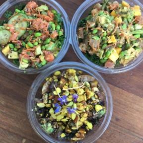 Gluten-free dairy-free poke bowls from Sweetfin
