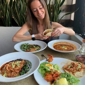Jackie eating at Tortilla Republic