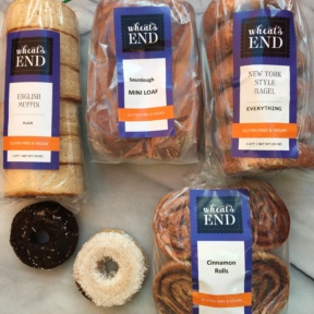 Gluten-free baked goods and breads from Wheat's End Cafe