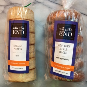 Gluten-free English muffins and bagels from Wheat's End Cafe