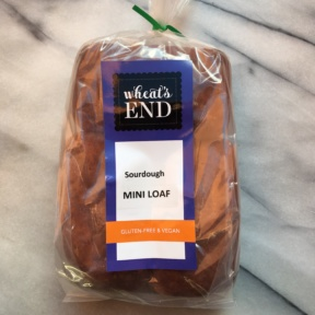 Gluten-free sourdough mini loaf by Wheat's End Cafe