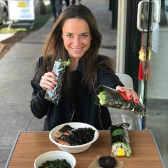 Jackie eating at Kye's