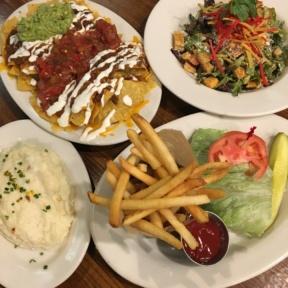 Gluten-free lunch spread from Heartland Brewery