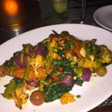 Gluten free veggies from J House