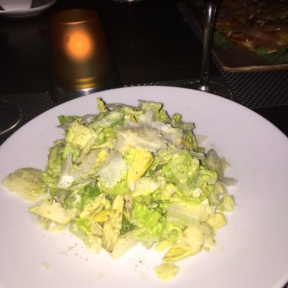 Gluten free Caesar salad from J House