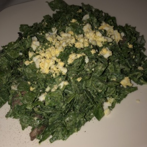 Gluten-free spinach salad from Morton's