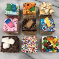 Gluten-free decorated rice krispy treats from Treat House