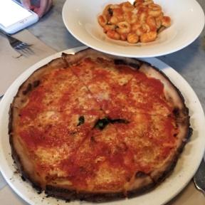 Gluten free gnocchi and pizza from RossoPomodoro