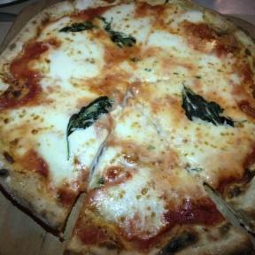 Gluten free cheese pizza from RossoPomodoro