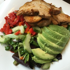 Gluten-free avocado chicken salad from Smorgas Chef