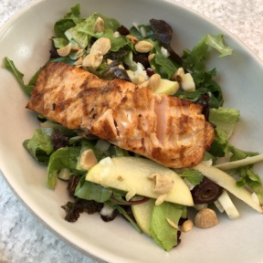 Salad with salmon from True Food Kitchen