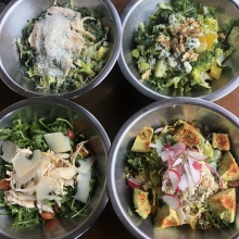 Gluten-free salads at Comoncy
