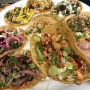 Gluten-free lobster tacos from Mexicue