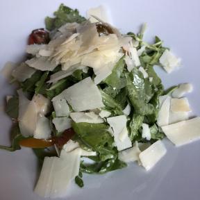 Gluten-free arugula salad from Risotteria Melotti