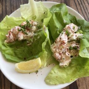 Gluten-free lobster lettuce wraps from Almond